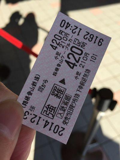 ケーブルカーの切符