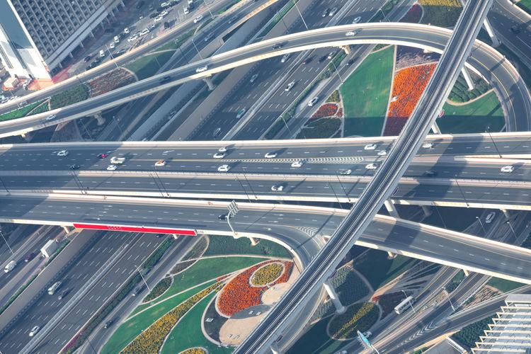 Colorful highway in dubai