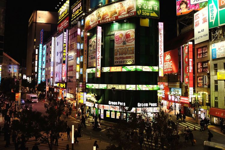 Shinjuku City Street City People People Photography people and places Tokyo Japan Travel Travel Destinations Japan Photography Neon City Illuminated Crowd Nightlife Multi Colored Retail  City Life City Street Architecture Billboard Commercial Sign Advertisement