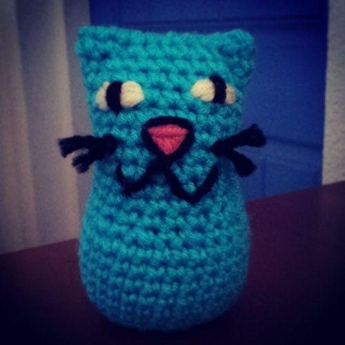 New crochet cat! Crochet Crochetpattern Catsrule Cats handmade giftfromtheheart yarn yarnlove