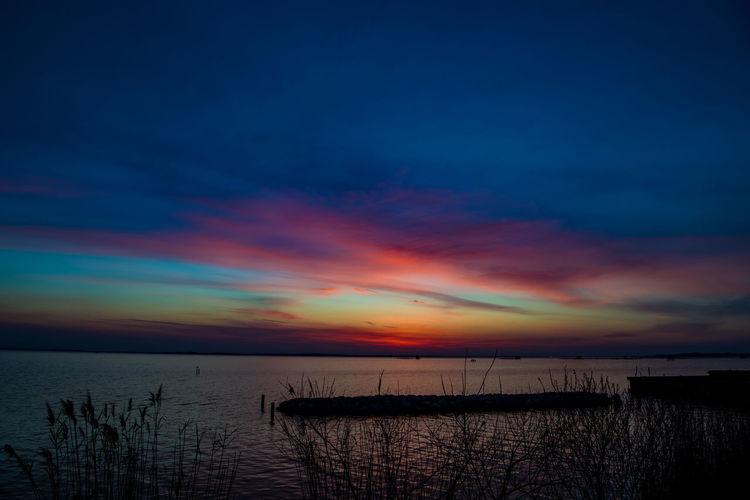 Sunset of Lake