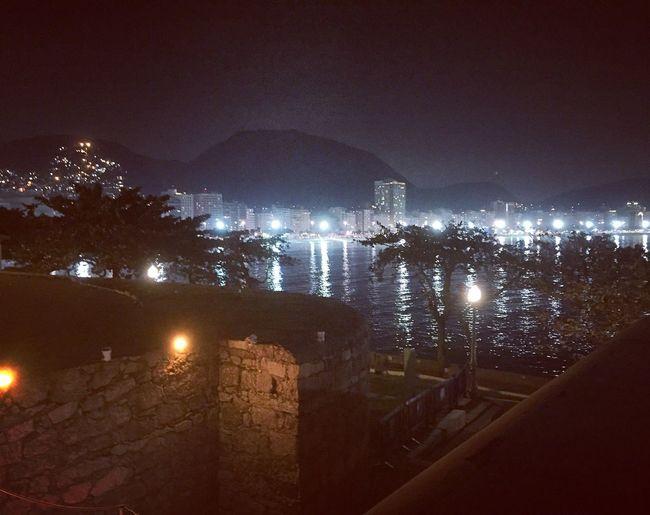 Copacabana Fort Copacabana Fort Fortress Rio Riodejaneiro Rio De Janeiro Night Darkness And Light Overnight Success