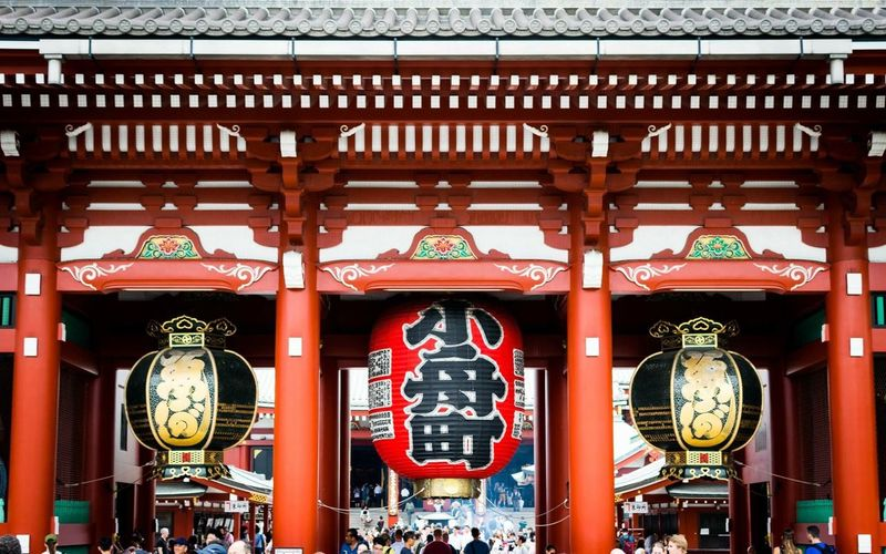Japan Travel Photography Japan Photography Japan Tokyo Travel Destinations EyeEmNewHere Red Architecture No People Built Structure Text Red Communication Lighting Equipment Lantern Belief Hanging Building Religion Travel Destinations