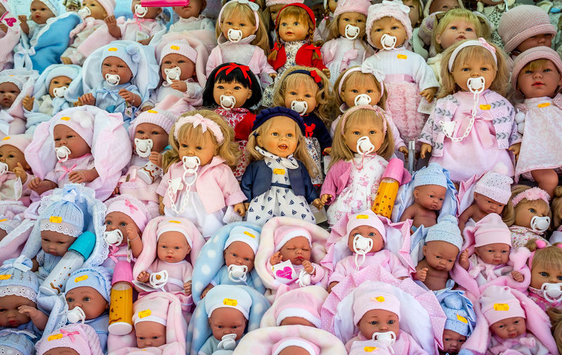 Full Frame Shot Of Dolls