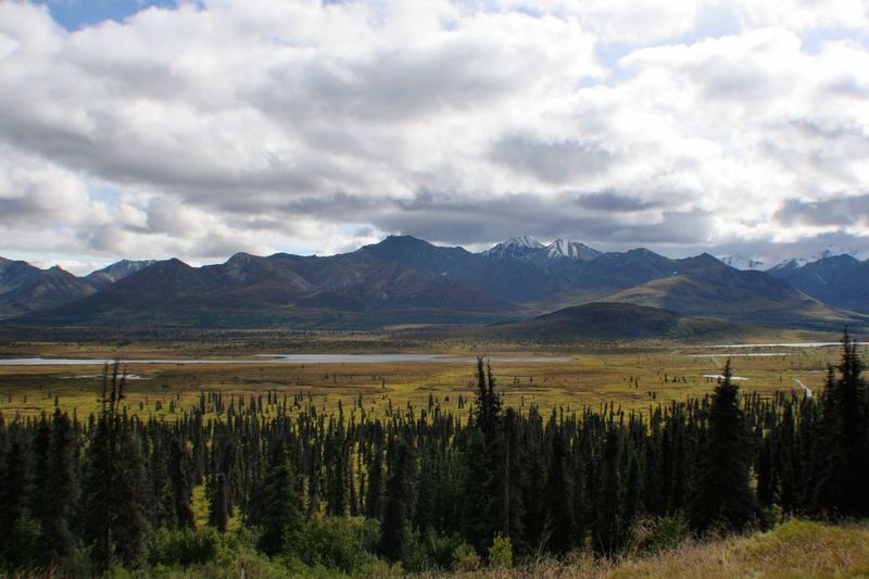 Alluvial Basin Beauty Alaska Nature Mountains Mountain Valley Q Quag Quagmire Landscapes With WhiteWall