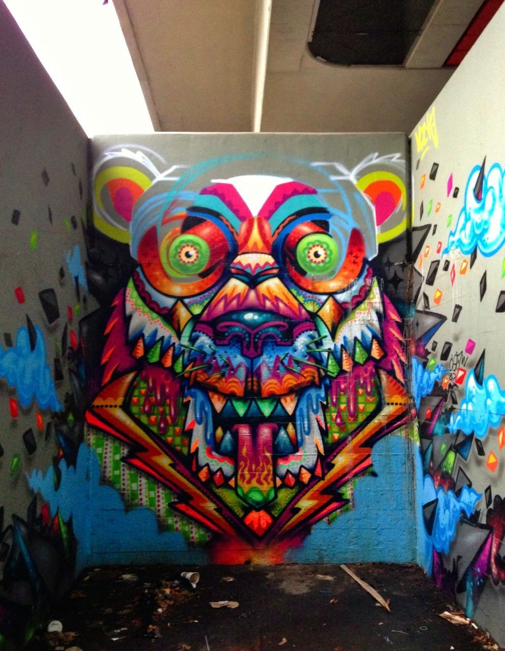 multi colored, art and craft, creativity, animal representation, day, no people, paint, indoors, clown, close-up
