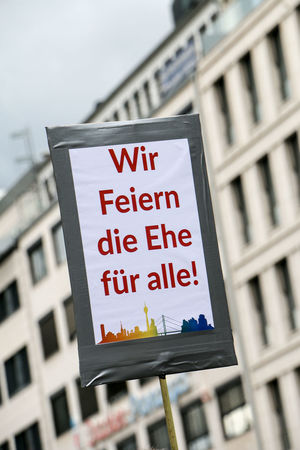 CSD Demo Marriage For All Architecture Building Exterior Built Structure City Close-up Communication Demonstration Ehe Für Alle Focus On Foreground Homo  Homosexual Love No People Nohomophobia Streetphotography Text Thankyou Press For Progress