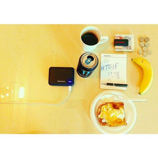 Survival kit Breakfast Singaporeslinging Runninglowoncash but... Tgif YO!!