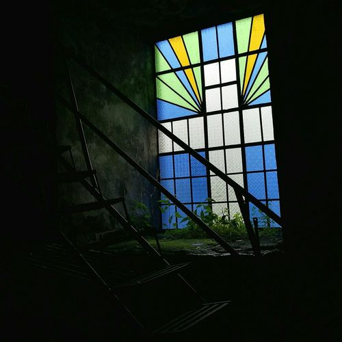 Stained Glass Window Indoors  Belfry Interior Multi Colored Architecture No People