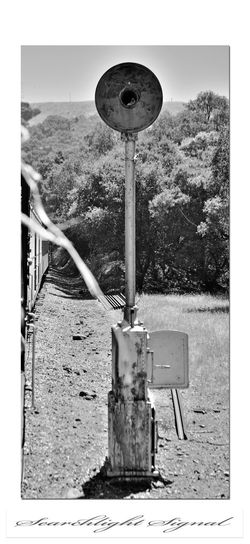 Railroad Equipment 2 Searchlight Signal Railroad Signals Niles Canyon Railway Communications Technology Bnw_friday_eyeemchallenge Bnw_unnoted_things Moving Train Pacific Locomotive Association Railroad_Photography Monochrome_Photography Monochrome Landscape Trees Right Of Way Black & White Black & White Photography Black And White Black And White Collection  California Railroad Heritage