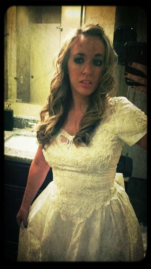 Miss Havisham takes all of her selfies in the bathroom.