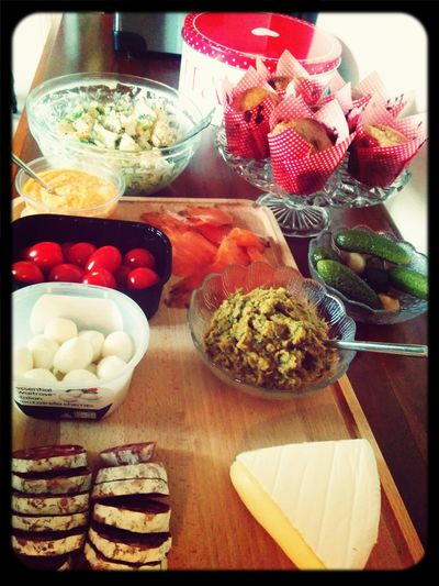 tonights eurovision feast. The finest foods we could find / make from across europe :)