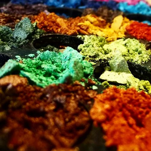Pigments Pigmentos Colors Colores Photography Green Green Green!  Orange Brown