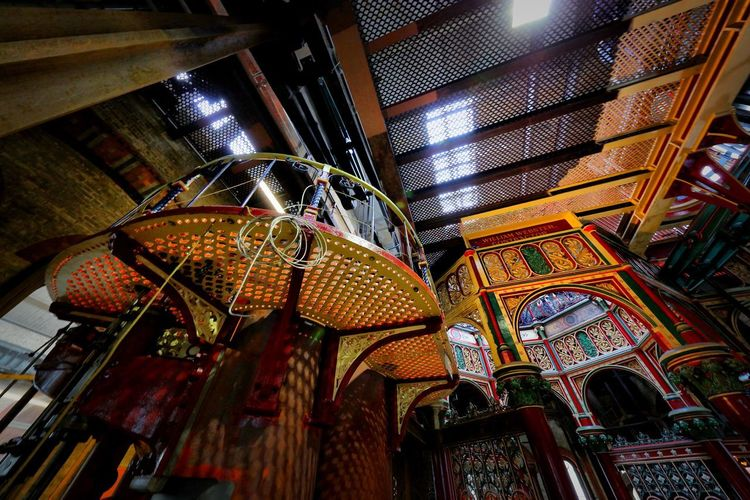 Crossness Pumping Station Indoors  Ceiling Low Angle View No People Architecture Built Structure Lighting Equipment