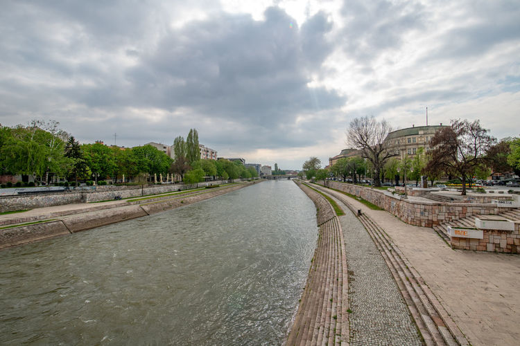 NIS, SERBIA- APRIL 13, 2019: Panoramic view of City of Nis and Nisava River, Serbia Eastern Naissus Niš Nisava Nish Nishava Peninsula Serbia Southern Yugoslavia And Architecture Autumn Balkan Building Castle City Cityscape Cultural Destination Entrance Europe Fall Fortification Fortress Gate Historical History Landmark Landscape Monument Old Ottoman Outdoor People River Serbian Sight Sightseeing Stone Street Structure Sunset Town Traditional Travel Urban Vacation