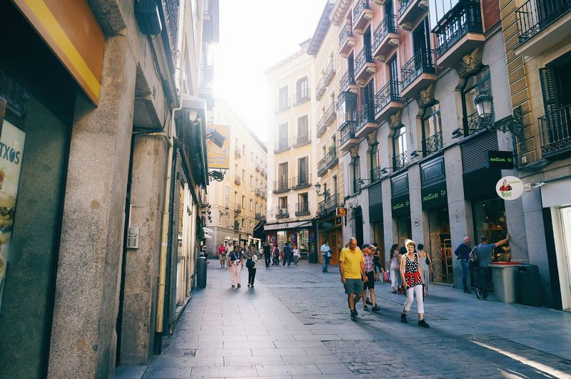 City Street City Street Architecture City Life Building Exterior Built Structure Walking People Women Adult Day Consumerism Adults Only Outdoors Large Group Of People Cityscape Crowd Samsungphotography Madrid Spain Madrid Live For The Story
