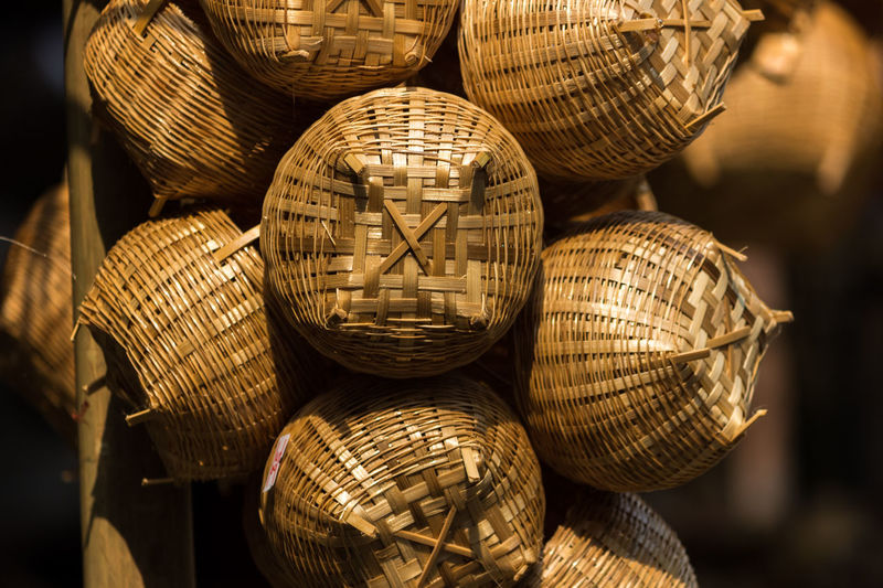 Basket Close-up Day Handicraft Handicraft Work Indoors  Large Group Of Objects No People Retail  Weaving