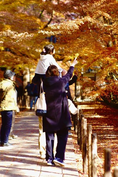 Thank you for everything, Dad. Jupiter9 Vintagelens Leisure Activity Outdoors Rear View Real People Walking Full Length EyeEm Best Shots EyeEmNewHere Autumn Family Japan 光明寺