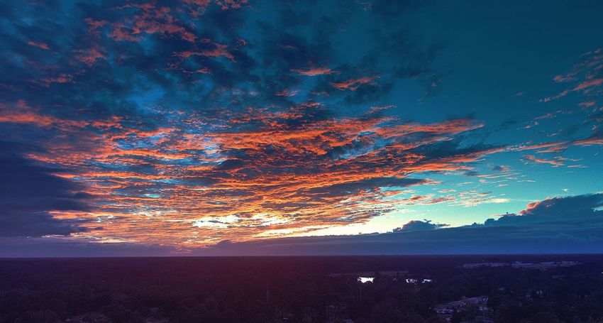 Electric sky Weather Weather Sky EyeEm Selects Power In Nature Scenics No People Outdoors Illuminated Dramatic Sky Beauty In Nature Dji Phantom 4 Pro Tranquility Nature Tranquil Scene Blue Sunset The Week On EyeEm Breathing Space Lost In The Landscape Perspectives On Nature