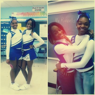 Me & Mariama , my lover & friend ~ we dont neva wanna end , <3 #CHEER is life