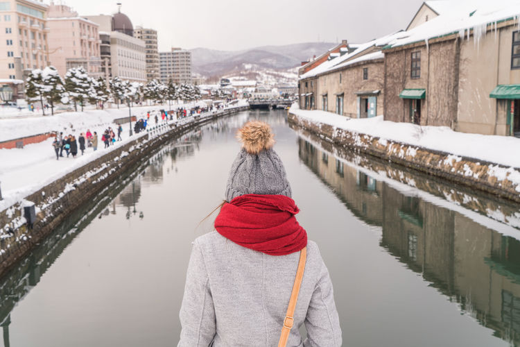 Asian  Back Japan Japan Photography Japanese  Otaru Otaru Canal Otaru,Hokkaido,Japan Rear View Snow ❄ Thai Travel Adult Architecture Bridge - Man Made Structure Building Exterior Built Structure Clothing Cold Temperature Day Lake Leisure Activity Lifestyles Nature Outdoors Real People Rear View Snow Tourism Warm Clothing Water Winter Women