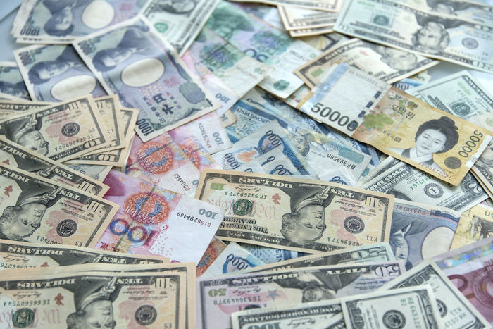 currency Abundance Backgrounds China Close-up Currency Day Dollar Finance Full Frame Indoors  Japan Korea Large Group Of Objects No People Paper Currency Savings USA Wealth Won Yen YUAN