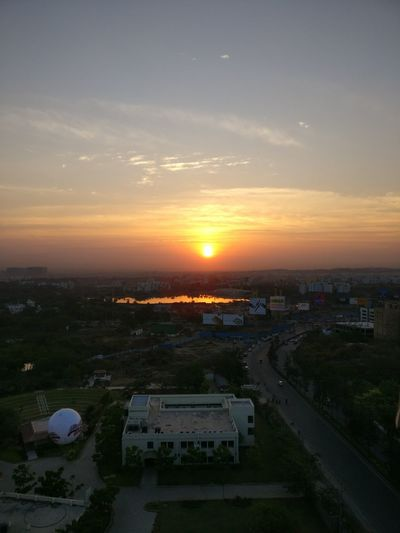 Cityscape High Angle View Sky City Cloud - Sky No People Outdoors Aerial View Urban Skyline Building Exterior Nature Loveforphotography Randomclick Light Beauty In Nature Oneplusphotography Oneplus3 Looksgood Naturephotography Sunrise Sunrise And Clouds Lake Lakeview Riseandshine