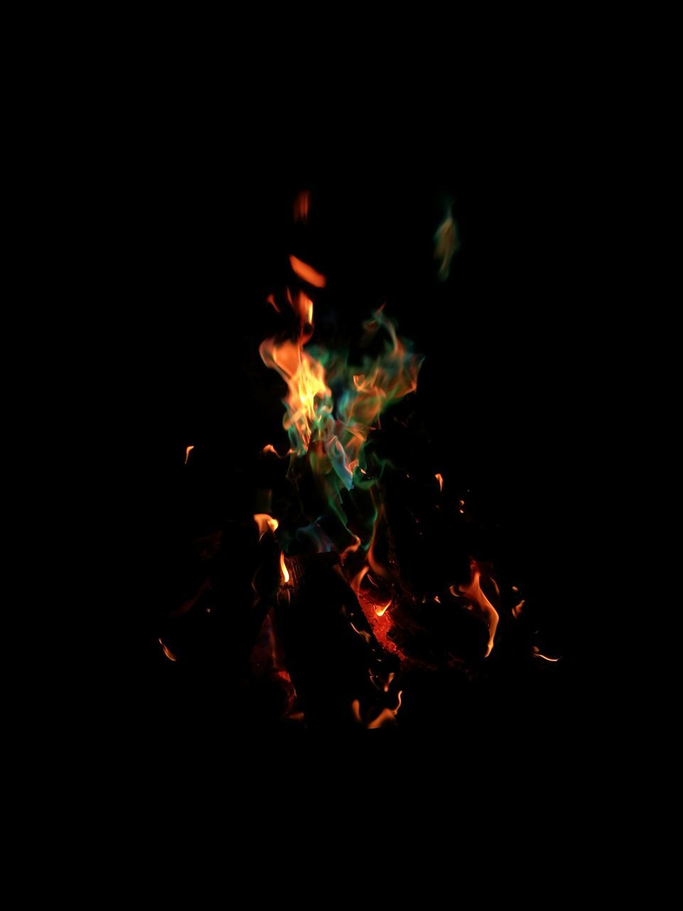 burning, flame, night, heat - temperature, bonfire, no people, campfire, close-up, fire pit, outdoors, black background