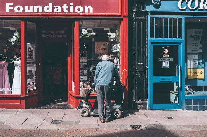 Foundation. Street Photo Streetlife Streetphoto_color Street Life Streetphoto Streetphotography Street Photography EyeEm Masterclass EyeEm Best Edits EyeEmBestPics EyeEm Best Shots Rear View Real People Full Length Day Casual Clothing One Person Outdoors Men Built Structure Architecture Building Exterior Lifestyles Pay Phone Adult People The Street Photographer - 2017 EyeEm Awards EyeEmNewHere