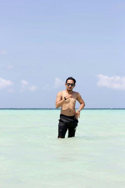 i love beach That's Me! Traveller Beach Sea Blue Sky Karimunjawa INDONESIA