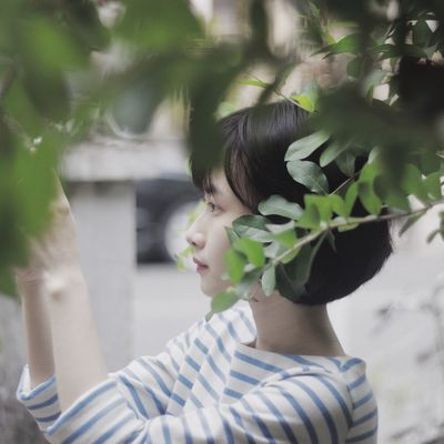 Some good old days (9) Portrait Of A Woman VSCO Girl Green Leaf Things I Like