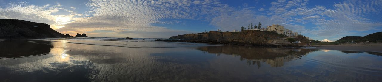 Beach Coastline Geology Horizon Over Water Horizontal Symmetry Majestic Ocean Outdoors Physical Geography Remote Sand Scenics Sea Seascape Shore Symmetry Tranquil Scene Tranquility Water Wave Zambujeiradomar Zambujeira Do Mar Zambujeira Alentejo Alentejo,Portugal
