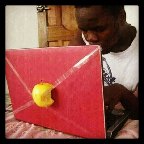 Genius! I want one. Apple Funny AppleComputer Study Iwantone fruit homework