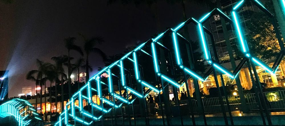 One Step Forward Illuminated Night Lighting Equipment Low Angle View No People Outdoors Architecture Sky