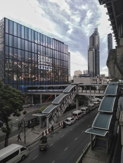 bts train station in bangkok city Building Building Exterior Architecture City Cityscape Metropolis City Life Town Road Street High Crossway Car City Skyscraper Modern Sky Architecture Building Exterior Built Structure Office Building Urban Skyline Tower Tall Tall - High