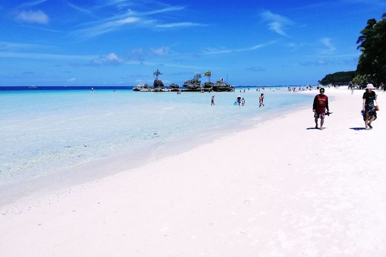 Renewed Boracay Full Length Sea Water Beach Blue Sky Horizon Over Water Cloud - Sky Shore Scenics Tranquil Scene Non-urban Scene Countryside