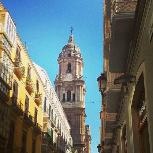 Tan linda y Maravillosa por siempre esa torre dela Catedral De Malaga Malaga♡