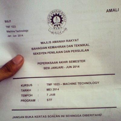 machine final exam. :'3 Ikmlumut Foundri