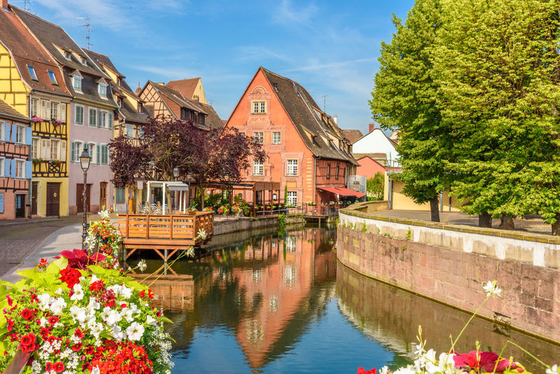 Alsace Architecture Building Exterior Built Structure Day Flower Nature Nautical Vessel No People Outdoors Sky Tree Water Waterfront