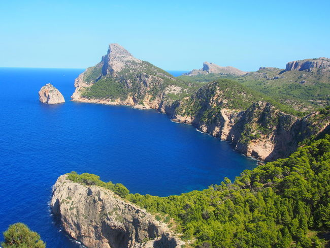 Beauty In Nature Blue Cap Capdeformentor Clear Sky Cliff Cliffs Dreamy Formentor High Angle View Horizon Over Water Idyllic Majorca Majorca, Spain Mallorca Mallorca (Spain) Mallorcaisland Mallorcaphotographer Mountain Outdoors Rock - Object Rock Formation Sea Spaın Water