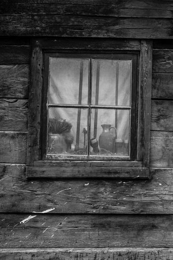 B/W window Vase Abandoned Building Exterior Bw Close-up Contrast, Opposition, Opposite, Antithesis, Conflict, Contradistinction Silvertone Window