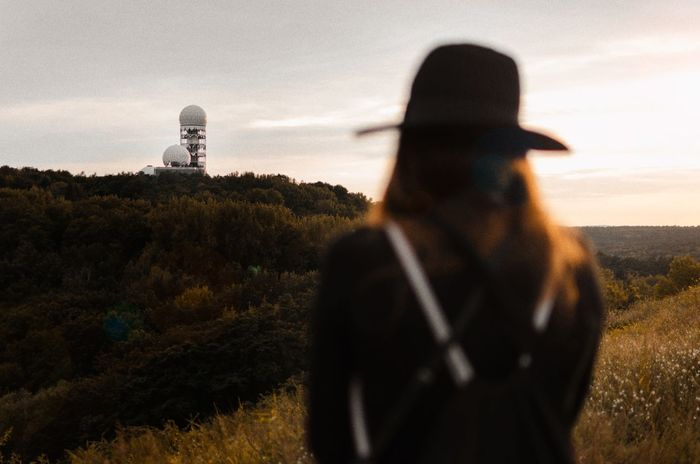 What's the worst thing that could happen? Sunset One Person Adults Only Only Women Adult People Travel Destinations Landscape One Woman Only Standing Outdoors Building Exterior Day Sky Architecture Nature City Teufelsberg Berlin The Traveler - 2018 EyeEm Awards Capture Tomorrow