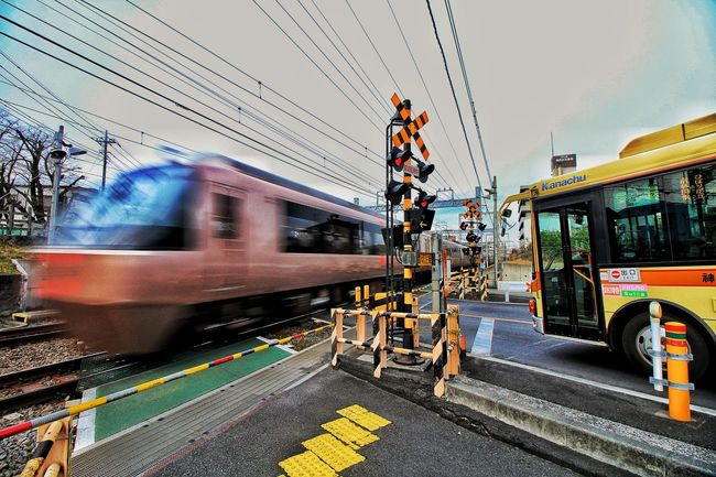 Transportation Mode Of Transport Travel Street City Building Exterior City Street Blurred Motion Sky Land Vehicle Motion Outdoors City Life Illuminated Public Transportation Architecture Speed Amusement Park Day No People