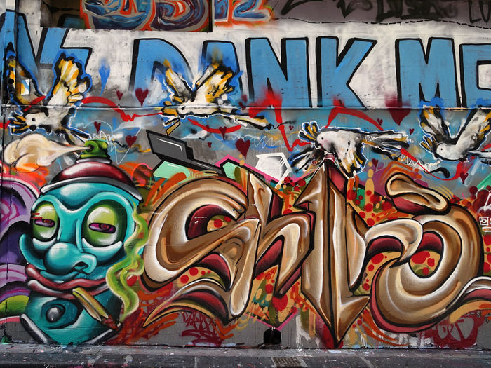 Melbourne street art Art And Craft Creativity Multi Colored Representation No People Day Graffiti Full Frame Human Representation Choice Close-up Wall - Building Feature Architecture Male Likeness Outdoors Variation Built Structure Design Wall Mural Architecture And Art Graffiti Painting