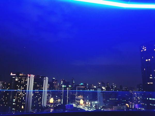 The Bkk night City Cityscape Illuminated Urban Skyline Water Popular Music Concert Nightlife Blue Skyscraper Sea