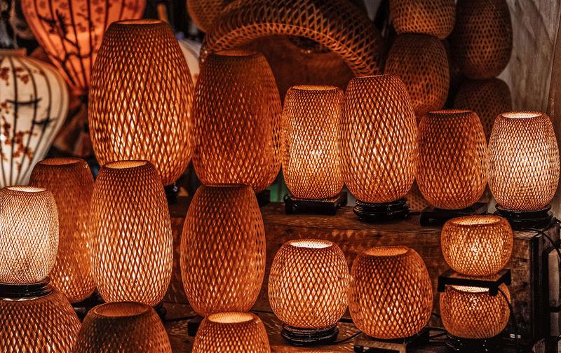Full frame shot of lanterns