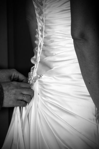 Adult Bride Close-up Day Holding Human Hand Indoors  Lace Love Low Section People Real People Tying Wedding Day Wedding Dress