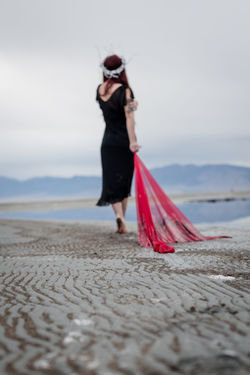 Burdened. The Great Salt Lake Great Salt Lake Utah Beach Women Full Length Portrait Sand Females Water Beautiful People Beautiful Woman Fashion