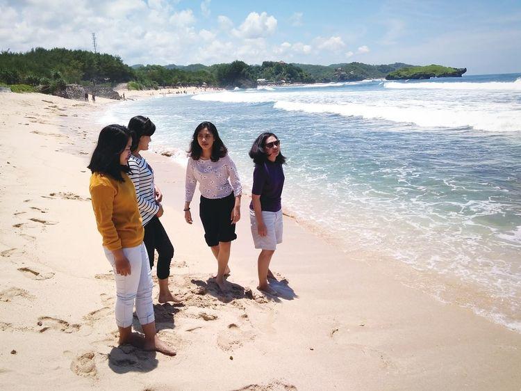 Wonosari Beach Jogjakarta Beach Friendship Girls Coolkids