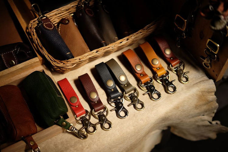 Indoors  Large Group Of Objects Close-up Keychain Leather Leather Craft Leather Art Leatherwork Leatherfashion Leathers Handmade Crafts Handmade Handmade Accessories Nontaburi Thailand